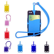 Universal Lanyard Cell Phone Neck Strap Case Cover Holder With ID Card Slot New