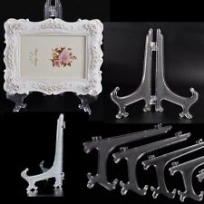 Plastic Clear Display Easel Stand Fossils Picture Frame Books Photo Holder Racks