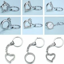 DIY Living Memory Floating Charm Magnetic Locket Key Chain Keyring Jewellery Hot