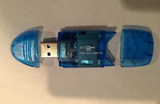 blue transparent USB 2.0 CARD READER WRITER for Micro SD/TF/SD/MMC Memory cards