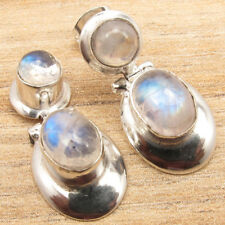 925 Silver Plated Multistone Earrings ! Round, Oval Gemstone Jewelry