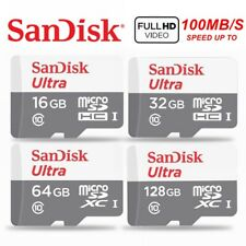 Micro SD Card SanDisk 64GB 32GB 16GB Class 10 Mobile Phone Tablet Memory 80Mb/s