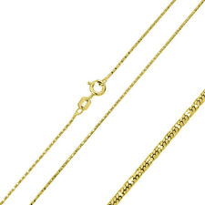 Men Women 0.8mm Silver Italian Chain Necklace 14K Gold Plated Round Snake Chain
