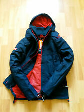 SUPERDRY MENS HOODED WINDCHEATER  JACKET NAVY/RED MESH LINED BNWT COAT