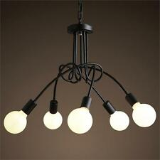 5 Head Iron Twisty Branches Shaped Chandelier Ceiling Light Hanging Pendant Lamp