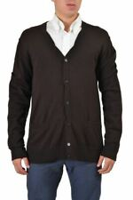 Dolce & Gabbana 100% Wool Brown Men's Cardigan Sweater Sz XS S M L XL 2XL