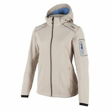 CMP Softshell Jacket Functional Jacket ZIPHOODIE Beige Stretch Windproof
