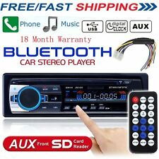Car Stereo Audio Bluetooth In-Dash FM Aux Input Receiver SD USB MP3 Player Free