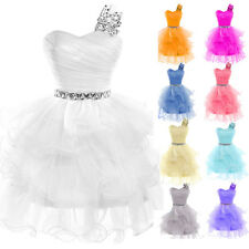 Women Lady Grace Wedding Bridesmaid Ball Gown Evening Prom Party Organza Dress