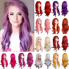 "24"" Women Wig Long Hair Heat Resistant Spiral Curly Cosplay Wig Anime Fashion Wa"