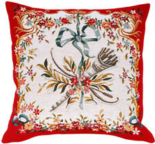 Diane Rouge French Musical Tapestry Cushion Pillow Cover - 18 x 18 - NEW