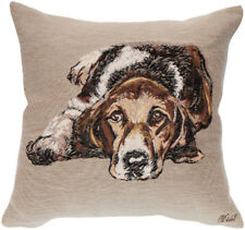 Ulysse Hound Dog French Tapestry Cushion Pillow Cover - 18 x 18 - NEW