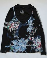 Next Black Long Sleeve Top with Cami Size 14,18,20,22