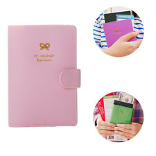1 Pcs Passport Holder Pu Leather Travel Wallet Sweet Bowknot Travel Wallet