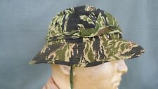 ORIGINAL 5th SPECIAL FORCES VIETNAM GREEN BERET TIGER STRIPE BOONIE HAT SZ 7