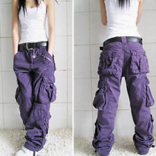 Women Mens Military Multiple Pocket Cargo Leisure Trousers Outdoor Overall Pants