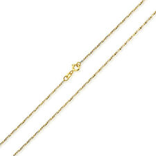 Men Women 14K Two Tone Gold Chain 1.2mm Fancy Twisted Box Chain Necklace