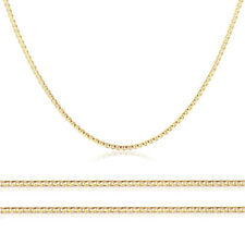 Men Women 14K Yellow Gold Chain 1.8mm Concave Mariner Link Chain Necklace