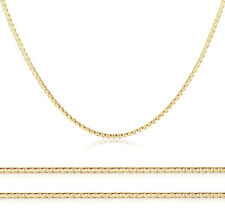 Men Women 14K Yellow Gold Chain 2mm Concave Mariner Link Chain Necklace