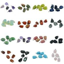 5pcs Natural Amethyst Quartz Crystal Gemstone Stone Charms Pendant Jewelry