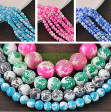 Lots Charms Colorful Crystal Glass Loose Round Spacer Beads 12mm Jewelry Finding