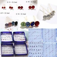 Womens Jewellery Wholesale 20Pair/Box Silver Colorful Crystal Ear Stud Earrings
