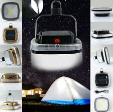 3W 300LM COB LED Solar USB Rechargeable Camping Outdoor Light Lantern Tent Lamp
