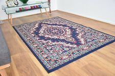 New Navy Blue Large Modern Traditional Medallion Area Rugs Carpet Cheap Rug