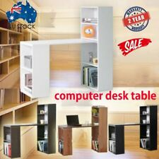 Computer Desk Table w PC Stand w 6 Storage Shelving Book Shelf Study Office ERS