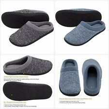 Summer Slip On 3 Layers Memory Foam Terry House Slippers Indoor Outdoor Use New