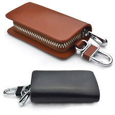 Genuine Leather Car Key Holder Keychain Ring Case Bag For Mercedes-Benz New