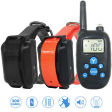 300m Rechargeable Electronic Remote Training Collar 100 Level Vibration&Shock
