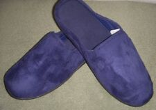 Men's Totes Isotoner Navy Microsuede Slipper Lt Wt Sturdy Sole