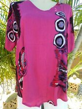 BNWT Plus Size V Bottom Tunic – Pink - Curve Culture - Sizes 18. 20,22 ,24,26,28