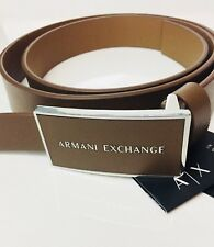 New Armani Exchange Mens  LOGO PLAQUE BELT Belt