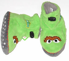 Sesame Street OSCAR Slipper Booties Kid's size 5/6 or 7/8 New w/tag