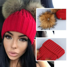 Women Winter Warm Hat Braided Crochet Wool Knit Beanie Beret Ski Ball Cap Baggy