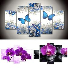5pcs Flowers Butterfly Modern Abstract Canvas Print Painting Art Home Wall Decor