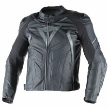 Dainese Avro D1 Mens Leather Motorcycle Jacket Black/Anthracite