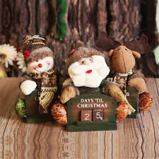 Christmas Advent Calendar Doll Ornament Wood Countdown Desk Decoration Gift Toy