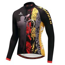 Winter Long Sleeve Cycling Jersey Full Zip Reflective Men Team Cycling Clothing