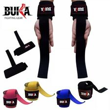 Weight Lifting Bar Straps Gym Bodybuilding Wrist Support Wraps Bandage 4 Colors