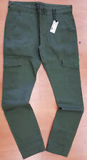 NWT FOREIGN EXCHANGE mens skinny olive pants cargo twill spandex sz 30 32