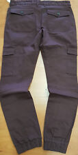 NWT FOREIGN EXCHANGE mens skinny purple blood pants cargo twill spandex sz 38