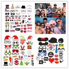 Party Wedding Christmas Photo Booth Props Mustache On A Stick Photography Mask