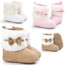 Baby Girl Bowknot Warm Shoes Soft Sole Snow Boots Soft Crib Shoes Toddler Boots