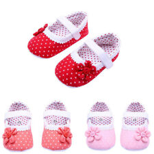 Autumn Baby Girls Flower Shoes Casual Soft Sole Toddler PU Leather Crib Shoes