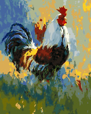 """Paint By Number DIY Acrylic kit Painting Canvas 16X20"""" Rooster in the grass 2301"""