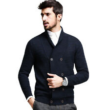 M-XXL Men's Casual 100% Cotton Sweater Botton Lapel Knitted Cardigan SweaterCoat