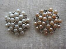 7-9 mm Freshwater Cultured Pearl Brooch & Pendant - NEW.